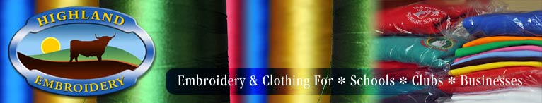 Embroidered Promotional clothing and embroidery design, promotional clothing, Customized Clothing, shirts, polo, t-shirts for Schools, Clubs and Business - Highland Embroidery